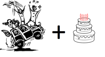 RES – Clowns in carts getting cake